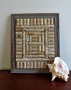 Rustic Wine Cork Board / Corkboard -Summer, Shabby Cottage Chic, Country Decor, Beach Decor, Fathers Day via Etsy