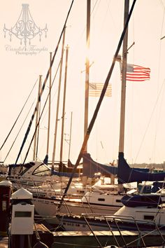 Sunset at the marina in Biloxi MS