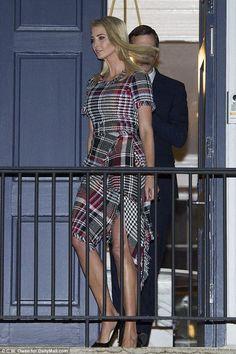 Ivanka Trump wearing Oscar De La Renta Tweed Dress