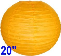"""Orange Chinese/Japanese Paper Lantern/Lamp 20"""" Diameter - Just Artifacts Brand by Just Artifacts. $2.28. Great for party and home decoration. Check Just Artifacts products for more available colors/sizes."""