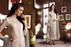 Look Stunning in this Heavily Embroidered Thread and Jari work Off-White Georgette Straight Cut dress. Comes along with Santoon Bottom and Chiffon Dupatta