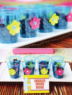 Hawaiian Luau Party Snack Cups with DIY Embellishments!