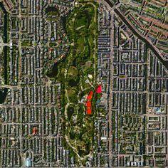 Vondelpark, 10 milyondan fazla ziyaretçi her yıl çeken Amsterdam, Hollanda bir kamu kentsel park.  Park 1865 yılında açıldı ve 17. yüzyıl yazarı Joost van den Vondel almıştır.  onun bol yeşil alan ve gölet yanı sıra, Vondelpark N 4,868 ° Ewww.dailyoverview.com ° bir açık hava tiyatrosu, heykeller, spor tesisleri, ve çok sayıda playgrounds.52.358 içerir