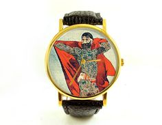 Vintage Tattoed Man Watch, Old Circus Poster, Unisex, Ladies Watch, Men's Watch, Retro, Novelty, Quirky, Analog, Gift Idea