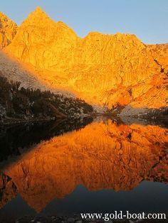 California Sierras in Golden Light by Roger Kempler