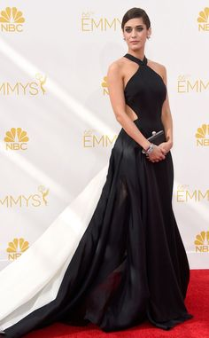 Lizzy Caplan hits the Emmys in Donna Karan Atelier.