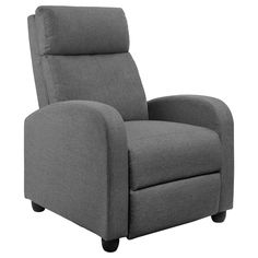 JUMMICO Fabric Recliner Chair Adjustable Home Theater Seating Single Recliner Sofa with Thick Seat Cushion and Backrest Modern Living Room Recliners (Grey) - Best Seller List Best Recliner Chair, Sleeper Chair, Modern Recliner, Recliner Cover, Modern Sofa, Modern Living, Swivel Recliner, Modern Armchair, Small Living