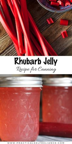 Rhubarb jelly is a special spring treat and naturally tart rhubarb is perfect for a sweet-tart jelly that is a good choice for canning. Jelly Recipes, Jam Recipes, Canning Recipes, Keto Recipes, Low Sugar Recipes, No Sugar Foods, Rhubarb Harvest, Rhubarb Jelly, Spring Treats