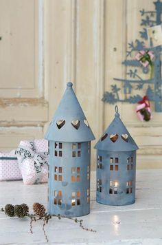House castle Candle holder - Home Page Diy Crafts Videos, Fun Crafts, Diy And Crafts, Crafts For Kids, Paper Crafts, Noel Christmas, Christmas Crafts, Christmas Pizza, White Christmas
