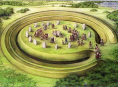 """A large henge with links to identical works in England is discovered in Chilicothe, Ohio. From, """"The Nephilm Chronicles: A Travel Guide to the Ancient Ruins in the Ohio Valley."""""""
