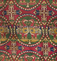 Prince's Coat, 700s Iran or Central Asia, Sogdiana, 8th century  silk; weft-faced compound twill, samit, Overall - h:48.00 w:82.50 cm (h:18 7/8 w:32 7/16 inches). Cleveland Museum of Art