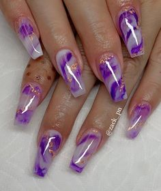 Are you looking for pretty nail design ideas? If so, check our collection of nail art images quickly! There are Coffin nails, French nails, and matte nails Purple Acrylic Nails, Summer Acrylic Nails, Best Acrylic Nails, Purple Nails, Matte Nails, Spring Nails, Glitter Nails, Summer Nails, Cute Acrylic Nail Designs
