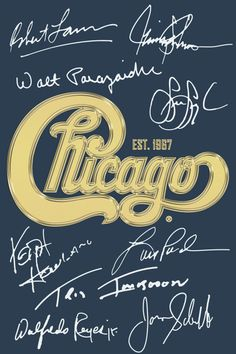 "Chicago Gold Signature 24""x36"" Poster"