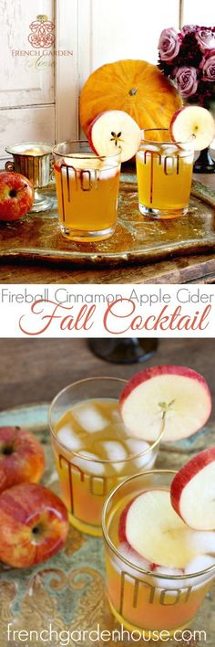 FIREBALL CINNAMON APPLE CIDER FALL COCKTAIL. #frenchgardenhousestyle