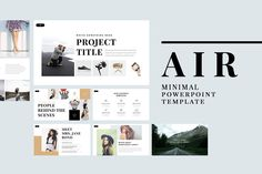 Air Minimal PowerPoint Template - Presentations - If you're looking to make a strong professional impact, go with this Air Minimal PowerPoint Template. It has a very clean, formal look that is perfect for your next big presentation.