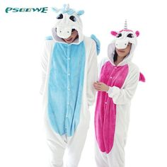 Nueva Franela Unicornio Pijama de Dibujos Animados Cosplay Adulto Unisex Onesies…