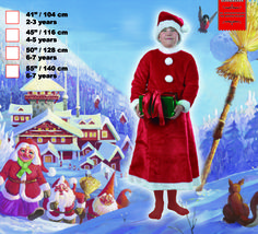 Suomen Pelimiehet - Santa Claus - Gnome dress for girls 104cm ages 2-3