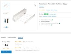 "Another ""Excellent product"" purchased from @takealot. Use the link below to see the reviews on the @retractaline #retractable #wash #line #zippy."