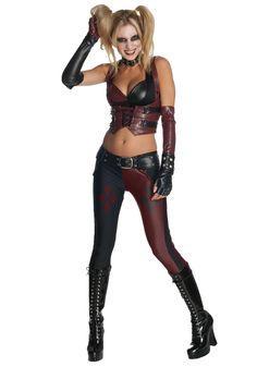 Arkham City Harley Quinn Adult Costume | eBay