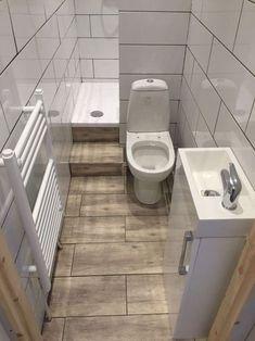 Genius idea for the new shower room! Genius idea for the new shower ro. - Genius idea for the new shower room! Genius idea for the new shower room! Small Full Bathroom, Tiny Bathrooms, Tiny House Bathroom, Bathroom Design Small, Bathroom Layout, Bathroom Interior, Modern Bathroom, Bathroom Ideas, Bath Design