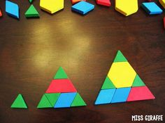 Grow the Shape is a super fun composing shapes activity to keep making the same shape but with more blocks - great critical thinking geometry activity!