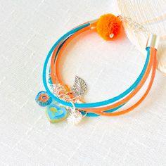Pom pom boho bracelet, limited edition jewellery. Fabulous for the boho girl.  Beautiful birthday gift ideas for her