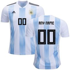 b489f6a5190 ARGENTINA MEN S 2018-2019 WORLD CUP -white blue- Custom JERSEY