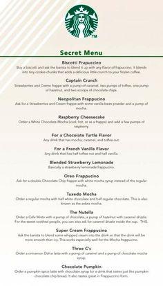 starbucks secret menu | Tumblr