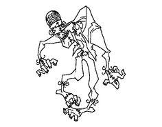 Dibujo de Frankenstein zombie para Colorear