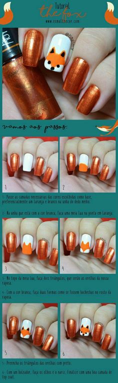 DIY Fox Nails