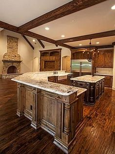 3 Terrabella Lane, Heath, TX 75032 Heath Texas Home Photos Estilo Interior, Texas Homes, Rustic Kitchen, Kitchen Ideas, Kitchen Layout, Kitchen Decor, Beautiful Kitchens, Log Homes, My Dream Home