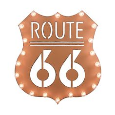 Casually known as the Main Street of America, Route 66 is an American roadway that's rich with history. Pay homage to one of the first major American highways with this retro style Route 66 Marquee Sig...  Find the Route 66 Marquee Sign, as seen in the The Age of the Automobile Collection at http://dotandbo.com/collections/the-age-of-the-automobile?utm_source=pinterest&utm_medium=organic&db_sku=DBIMRQ-7