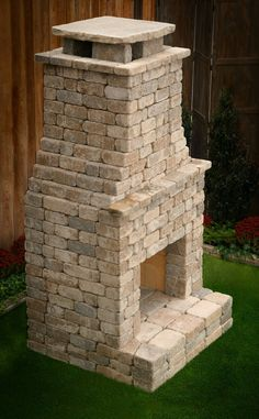 "DIY Outdoor Fireplace Kit ""Princeton"" is upscale luxury you can afford. Build Outdoor Fireplace, Outdoor Fireplace Designs, Diy Fireplace, Outdoor Fireplaces, Outdoor Rooms, Outdoor Living, Outdoor Decor, Outdoor Patios, Outdoor Kitchens"
