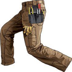 Duluth Trading Company. Duluthflex Ultimate Firehose Utility Pants.