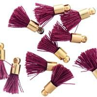 I'm in LOVE with these TINY TASSELS at GoodyBeads! Perfect size for any decoration charm to a necklace or bracelet.