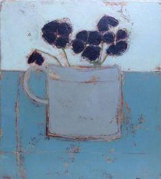 'Dark Winter Pansies' by Anji Allen Abstract Flowers, Abstract Art, Winter Pansies, Still Life Art, Botanical Art, Beautiful Paintings, Oeuvre D'art, Flower Art, Amazing Art