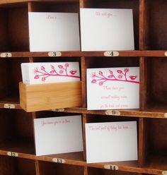 guest book note cards in a box