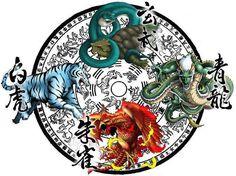 "70 Likes, 2 Comments - Irezumi Empire (@irezumiempire) on Instagram: ""Legendary Guardians of the Four Directions - Azure Dragon, Vermilion Phoenix, White Tiger, Black…"""