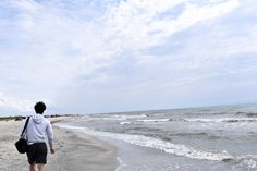 Taking a walk, just listening to the waves at Vadu.