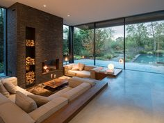 The post Picture could include: living room table and interior appeared first on Tisch ideen. Picture could include: living room table and interior Picture could include: living room table and interior Home Interior Design, Interior And Exterior, Room Interior, Luxury Interior, Interior Ideas, Sunken Living Room, Living Rooms, Living Room Brick Wall, Living Room Fireplace