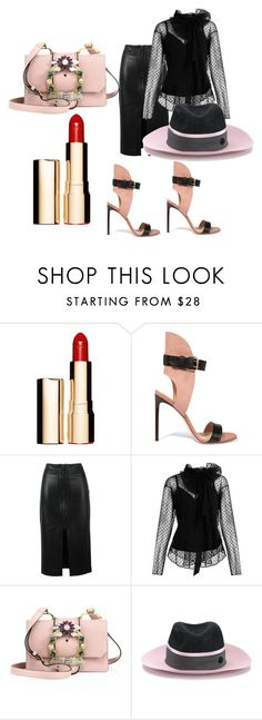 """""""My 4-Year-Old Daughter Did This!! Little Fashionista!"""" by flippintickledinc ❤ liked on Polyvore featuring Clarins, Francesco Russo, Tom Ford, Marc Jacobs, Miu Miu and Maison Michel"""