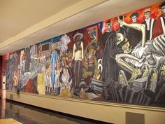José Clemente Orozco The Epic of American Civilization Section, Dartmouth mural Dartmouth College, Diego Rivera, Mural Painting, Mural Art, Wall Art, Chicano Art Movement, Clemente Orozco, Hispanic Art, School Murals
