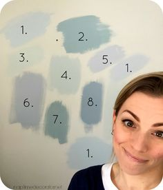 SW Tradewind SW Rain SW Sea Salt (It's also the little bit you see by my ear). Interior Paint Colors For Living Room, Paint Colors For Home, Bedroom Colors, Best Bathroom Paint Colors, Bedroom Decor, Sw Sea Salt, Sea Salt Paint, Paint Color Schemes, Wall Colors