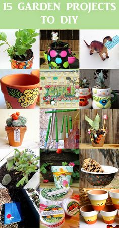 15 DIY Garden Projects to try. http://www.punkprojects.com/2014/05/15-garden-projects-to-diy.html