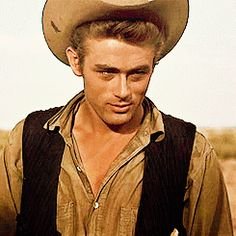 My reaction when someone asks if I think James Dean was gorgeous ;D. (This is him in Giant, 1956)