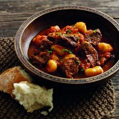 Slow cooked beef with gnocci. For the full recipe click the picture or visit redonline.co.uk