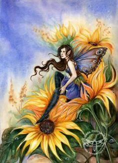 Sunflower by JannaFairyArt