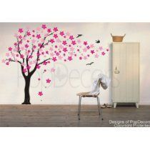 Drifting Flowers and Birds Wall Decal