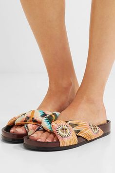 Slight heel Multicolored satin Slip on Made in Italy