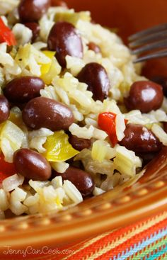 Red Beans and Brown Rice - A simple, heart-healthy one-pan meal...